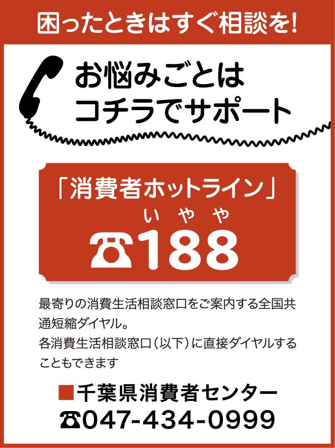 消費者ホットライン 188